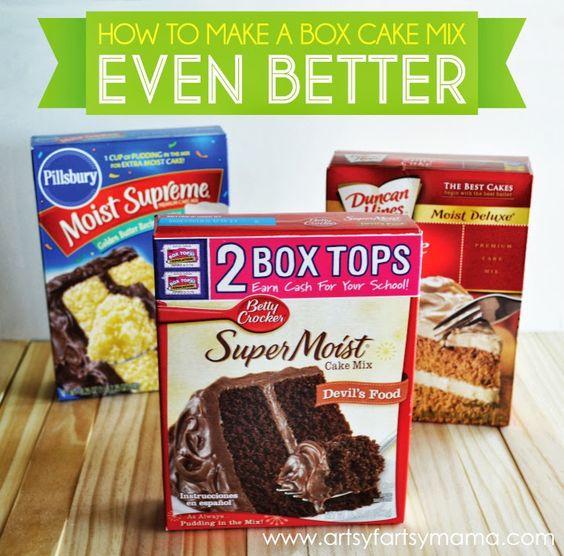 Cupcake recipes box cake