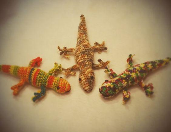 Amigurumi Gecko, Crochet Gecko, Lizard Amigurumi ...