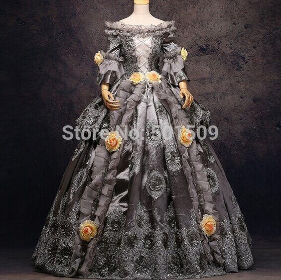 pas cher gris argent or luxe medieval renaissance robe reine robe victorienne le carnaval de. Black Bedroom Furniture Sets. Home Design Ideas