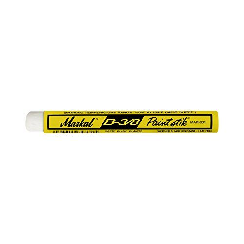 #nail White solid paint marker. For use on metal, wood, plastic, concrete, rubber, glass, cardboard and #paper. #Lead-free, non-toxic. Marking range: -50 degree f...