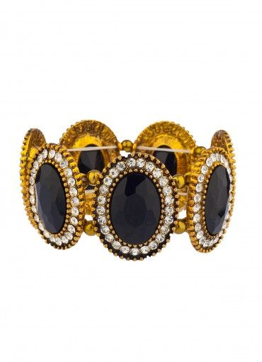 Reza Jewel Bangle Black at Prima donna