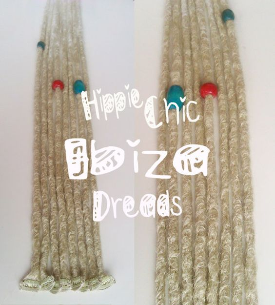 5 Short Clip-in Human hair dread extension by hippiechicdreads