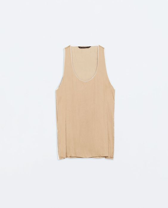 ZARA - WOMAN - LOOSE TOP WITH CONTRAST PIPING