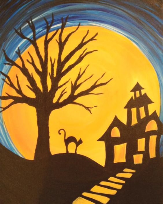 painting with a twist halloween - Bing images