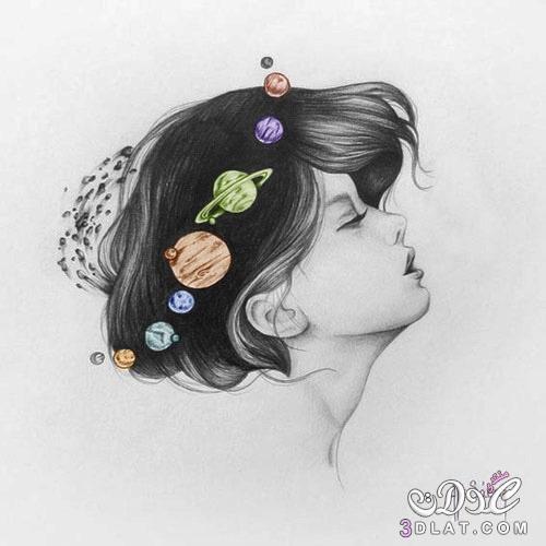2018 اكبر الرصاص بالقلم بنات صور كيوت مجموعة مرسومة مرسومةبالقلم Girl With Brown Hair Girly Drawings Beautiful Girl Face