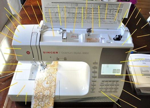 Centsational Girl's new machine: a Singer Quantum Stylist 9960 {with a needle threader}