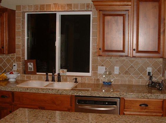 Kitchen Remodel Tile Around Kitchen Sink Window Home Remodel Decor Ideas Pinterest