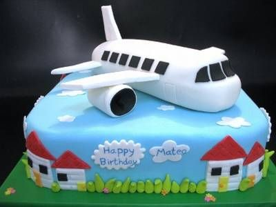 Airplane cake designed cakes pinterest airplane for Airplane cake decoration