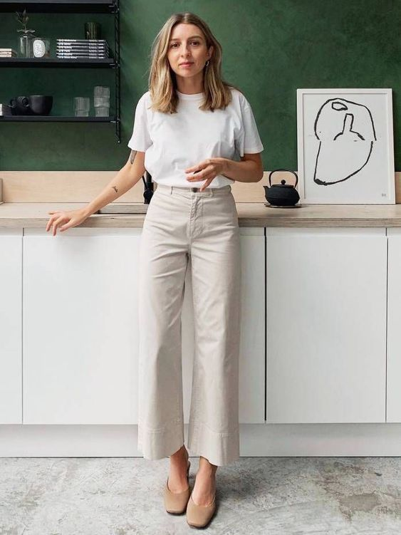 wardrobe staples: brittany bathgate wearing a white t-shirt