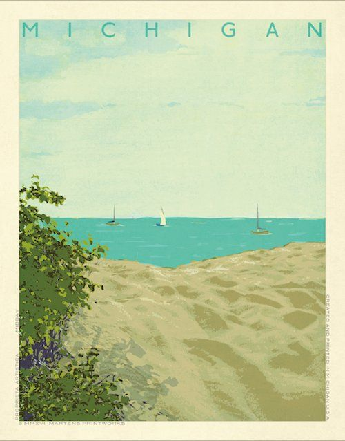 The Michigan Hues 2016 series! One of 4 prints depicting a Michigan beach at different times of the day! Printed with the highest craftmanship on archival quality 80lb paper with a matte finish, ha...