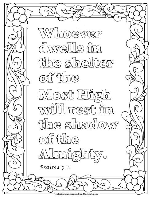 Psalm 91 1 Print And Color Page Whoever Dwells In The Shelter Of
