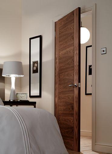 4 Panel V Groove Walnut Interior Door
