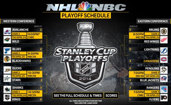 NHL Playoff Schedule
