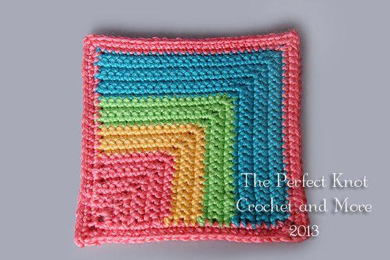 Pot holder PDF Crochet Pattern  Melissa's Mitered 6 by PerfectKnotCrochet, $3.00