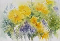 Znalezione obrazy dla zapytania malarstwo akwarelowe kwiaty