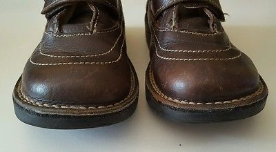 ORCHESTRA Boys Brown Genuine Leather Ankle Boots Size Kids 1 UK, 21 cm