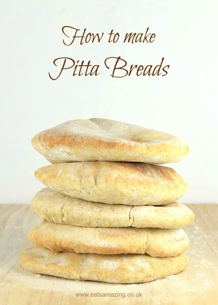 How to make your own pitta breads - easy pitta bread recipe made with spelt and white flours