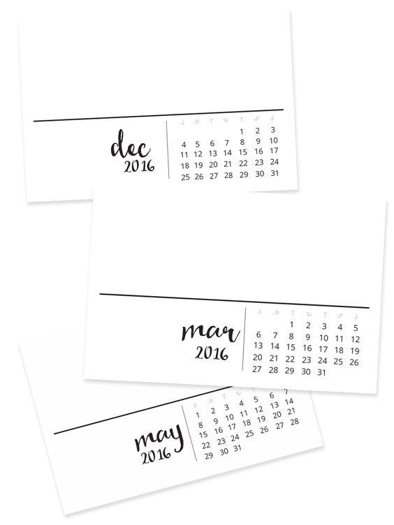 Free Project Life 2016 Calendar Cards | happyapple.us