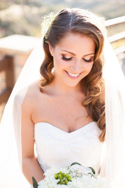 Metallic eyes: http://www.stylemepretty.com/little-black-book-blog/2014/07/16/romantic-oak-glen-garden-wedding/ | Photography: Candice Benjamin - http://candicebenjamin.com/