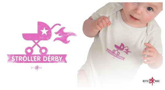 Stroller Derby baby onesie.   For the little future roller derby girls.