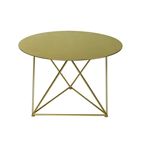 All Metal Round Coffee Table Smooth Tabletop Stable Bracket