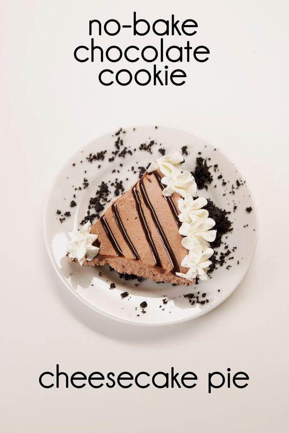 -Bake Chocolate Cookie Cheesecake Pie | Desserts | Pinterest | Cookie ...