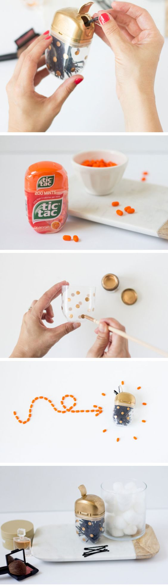 Organize your Bobby Pins in a Funky Tic Tac Case   Click Pic for 25 Simple Life Hacks Every Girl Should Know   Household Tips and Tricks for Life