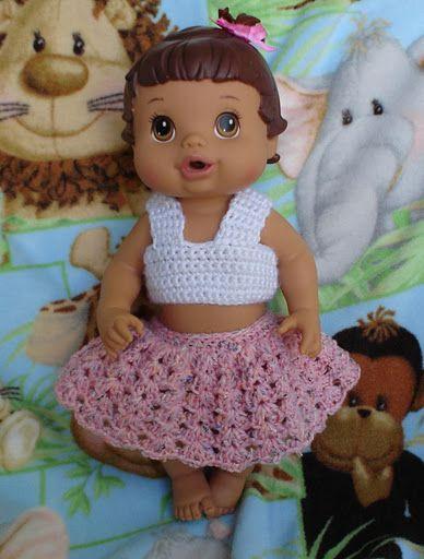 Baby Alive bailarina al crochet
