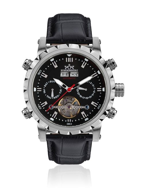 Hindenberg Reloj Hombre 370-H Expeditor Negro