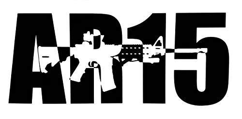 "Protected By AR15 Decal 8.5/"" x 3.5/"" Vinyl Window Sticker for Car Truck NRA AR-15"