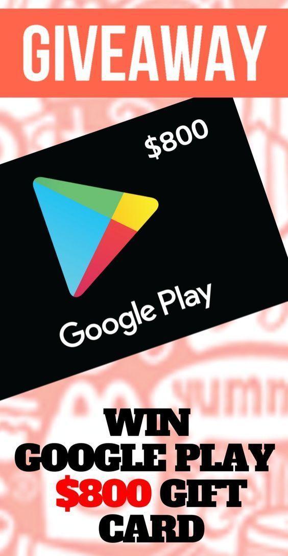 800 Verdienen Sie Kostenlose Google Play Geschenkkarten 2019 Holen Sie Sich Eine Google Play Geschenkkarte Im Wert Von 800 In 2020 Geschenkkarte Google Play Karten