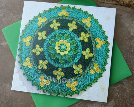 Flower Mandala Card  Cards For All Occasions by QuillingOwl