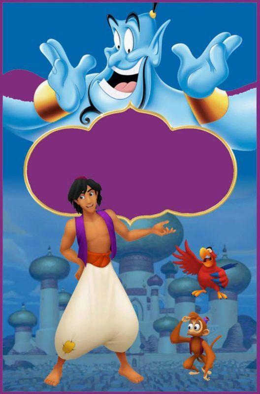 Free Printable Aladdin Invitation Template Fiesta De Aladin Imagenes De Aladino Fiesta De Jazmin