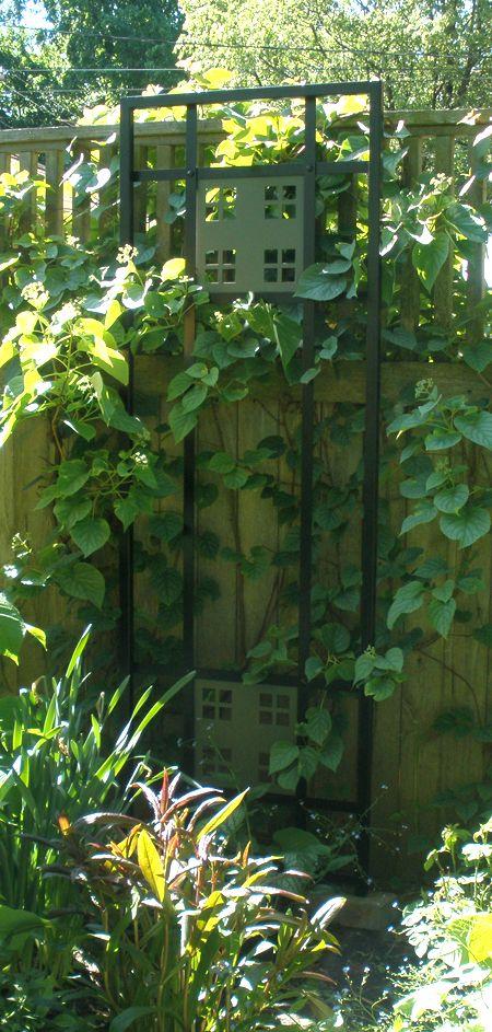 Craftsman style trellis garden hardscapes pinterest for Craftsman style trellis
