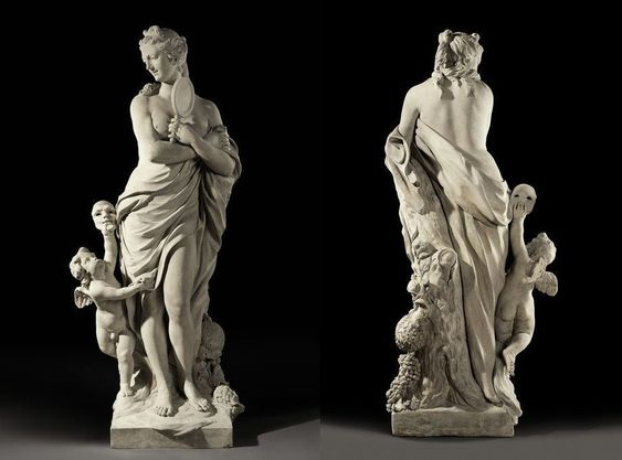 A Figure of Pomona with the Genie of Vertumnus by Jean-Baptiste Dupont (c. 1753)