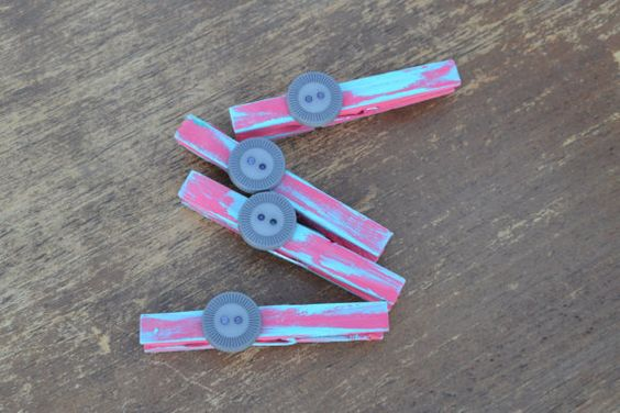 Handpainted clothespins by TwinseyWhimsy on Etsy, $3.50