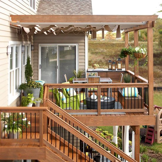 Outdoor room decorating ideas sun track and extensions - Attractive patio gazebo canopy designs for inviting outdoor room ...