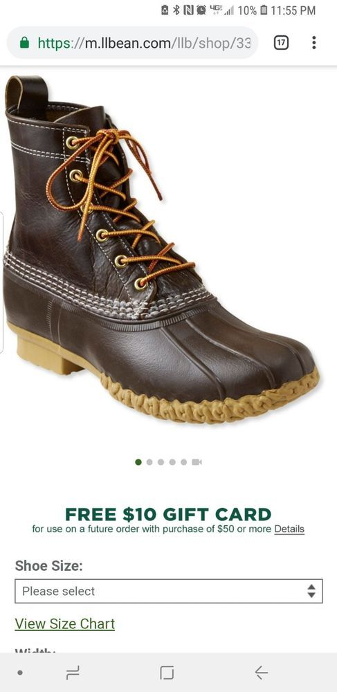 New 8 Thinsulate Ll Bean Boots Limited Edition Men S 7 M D Dark Ash Dark Ash Ll Bean Boots Boots Duck Boots
