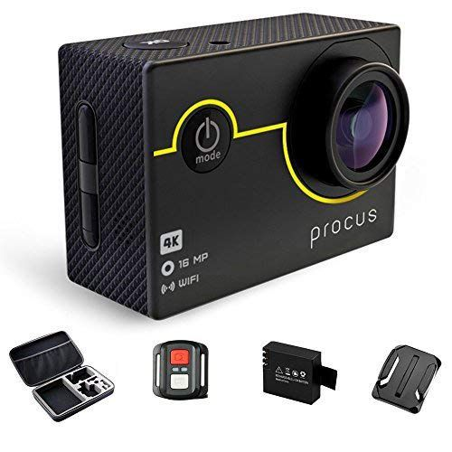 Procus Rush 2 0 16mp 4k Hd Action Camera Waterproof With Https