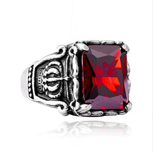 bague diamant rouge homme