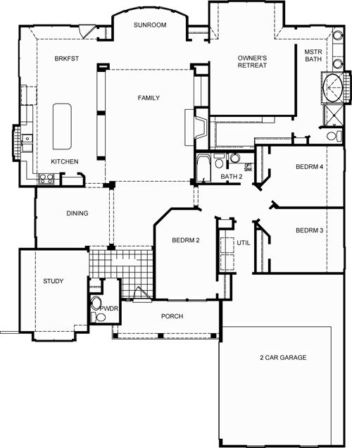 campbell floor plan by david weekley homes house
