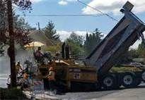 Laying new pavement