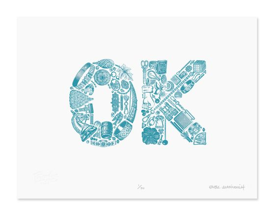 Friends of Type — OK (2 color edition) by Erik Marinovich