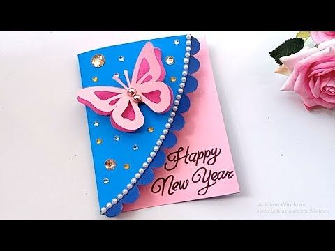 How To Make New Year Card Handmade Easy Card Tutorial Youtube New Year Cards Handmade Handmade Birthday Cards New Year Card Making