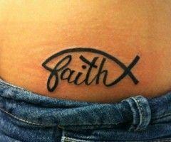 Faith + Christian fish tattoo - I want this on my foot!