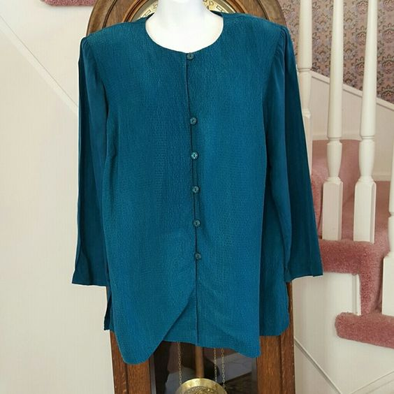 Teal Blouse Plus Size 27
