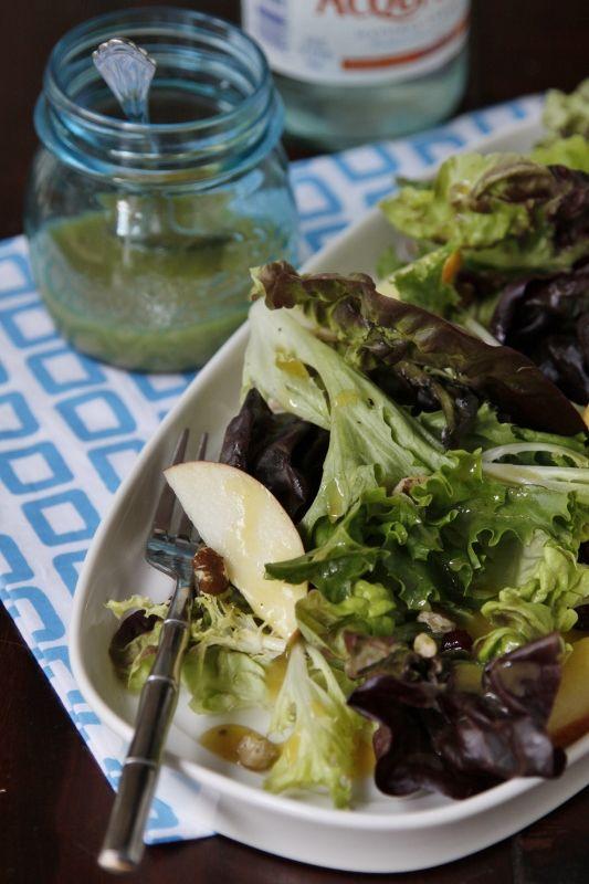 Apple Walnut Salad with Maple Dijon via @Paula - bell'alimento