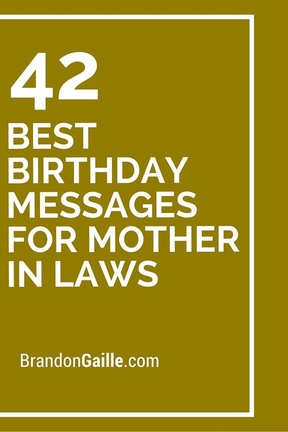 42 Best Birthday Messages for Mother in Laws