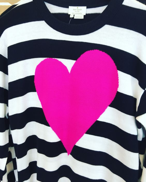 Kate spade heart sweater