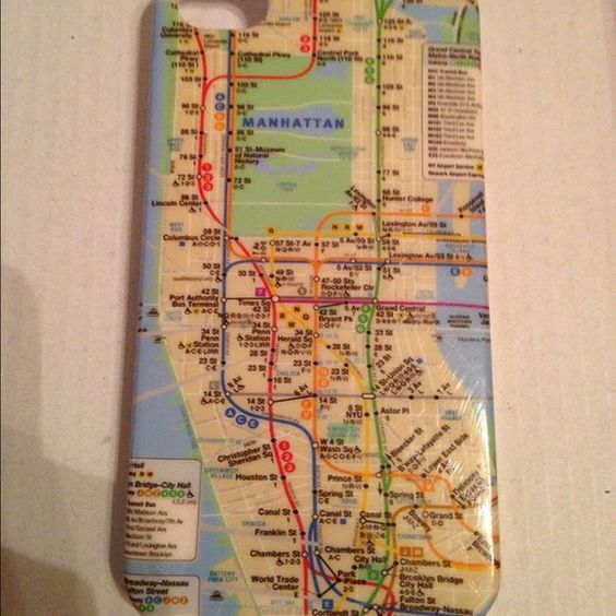 Manhattan map iPhone 4/4s case Manhattan map iPhone 4/4s case very gently used Accessories